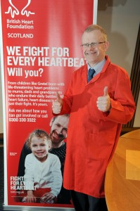 MSP's Ramp Up the Red for British Heart Foundation Scotland