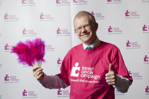 Politician in pink: SNP MSP John Mason is backing BCC's campaign this week
