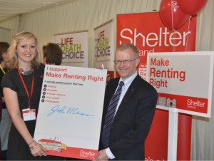 John Mason MSP - Make Renting Right Shelter 15.11.2014