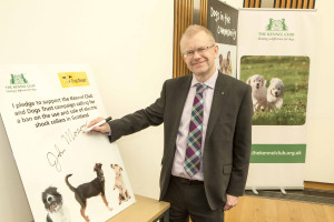 MSP's try out Electric Shock Collars at Scottish Parliament Pic Peter Devlin